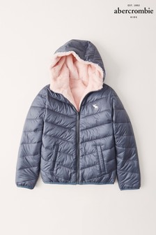 Abercrombie & Fitch Cozy Blue Padded Jacket