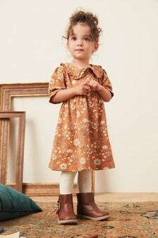 Платье с цветочным принтом и воротником  (3 мес.-7 лет)