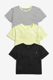 3 Pack Short Sleeve T-Shirts (3mths-7yrs)