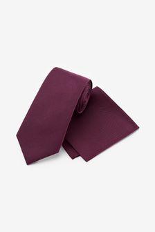 Set cravată de mătase și batistă de buzunar