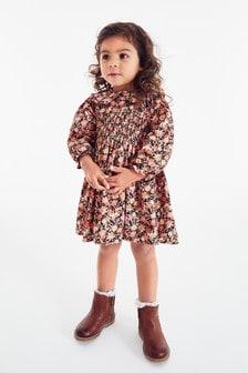 Платье с присборенным воротником (3 мес.-7 лет)