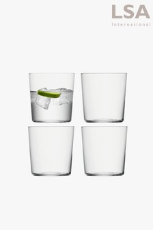 Set of 4 LSA International Gio Tumbler Glasses