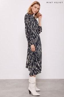 Mint Velvet Sara Animal Print Midi Dress