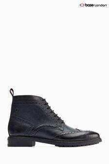 Base London® Blue Berkley Grain Brogue Ankle Boots