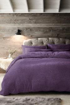 Kuschelige Fleece-Bettgarnitur aus Kissen- und Bettbezug