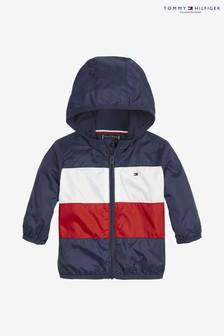 Детская куртка с контрастной отделкой и флагом Tommy Hilfiger