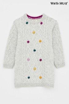 White StuffKuscheligesPulloverkleidmit Zopfmuster,für Kinder, Gelb