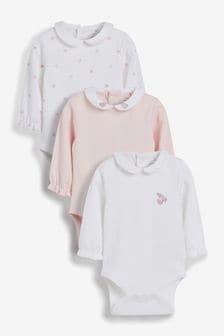 3件裝優質長袖連身衣 (0個月至3歲)