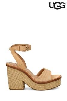 Sandale tip espadrile cu toc UGG® Laynce bronz