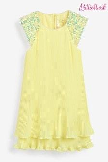 Žlté šaty Billieblush s volánmi