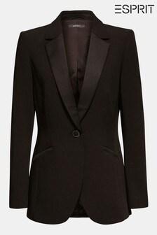 Blazer à détails poches Esprit noir