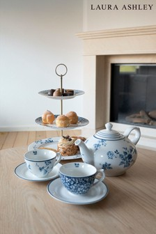 Laura Ashley Blue Blueprint Collectables 3 Tier Cake Stand