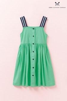 Crew Clothing Kleid mit elastischen Trägern, Grün