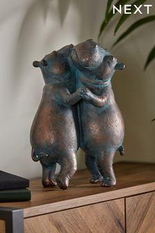 Dancing Hippos Ornament