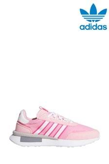 Розовые/белые кроссовки для подростков adidas Originals Retroset