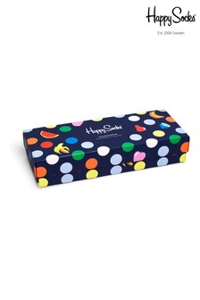 Happy Socks Navy 4 Pack Socks Gift Box