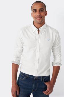Crew Clothing Company White Crew Slim Oxford Shirt