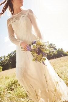 Кружевное свадебное платье в винтажном стиле