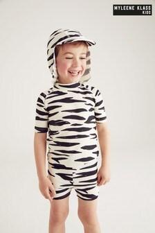 Myleene Klass Kids 3-teiliges Sonnenschutzset mit Zebramuster