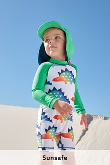 Sunsafe Swimsuit And Sun Hat Set (3mths-7yrs)