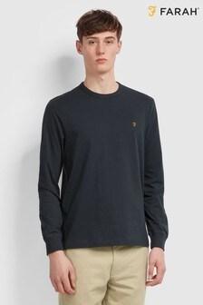 Farah Worth Langärmliges Shirt, Blau