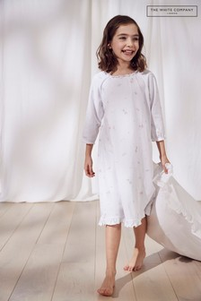 The White Company Multi Fairy Aop Lace Trim Nightdress