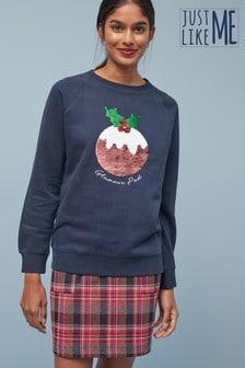 Женский рождественский свитер из коллекции для всей семьи спудингом