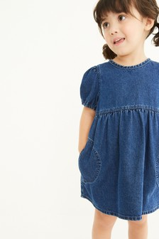 Puff Sleeve Denim Dress (3mths-7yrs)
