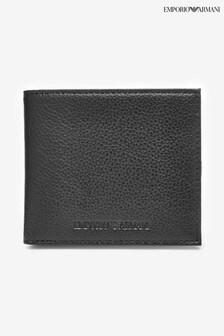 Emporio Armani皮革雙折皮夾