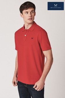 Crew Clothing Red Classic Pique Polo Shirt
