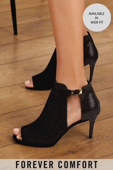 Forever Comfort® Cut-Out Peep Toe Shoe Boots