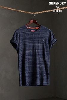 חולצת טי רקומה מכותנה אורגנית של Superdry דגם Vintage