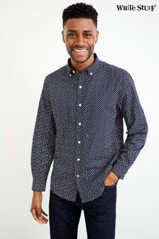 White Stuff Navy Chestnut Print Shirt