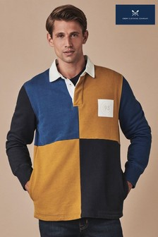 Crew Clothing Blue Colourblock Rugby Shirt