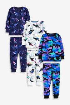 寬鬆睡衣3件裝 (9個月至12歲)