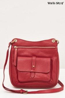 White Stuff Red Aspen Leather Cross-Body Bag