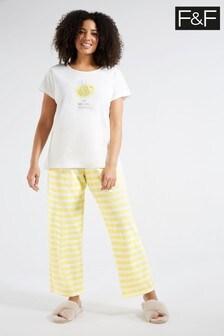 F&F Yellow Bee Glitter Pyjamas