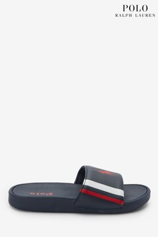 Ralph Lauren Navy Bensley Sliders