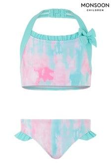 Monszun Rózsaszín Nyakkendő Dye Bikini szett