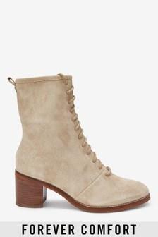 Сапожки со шнуровкой на блочном каблуке Forever Comfort®