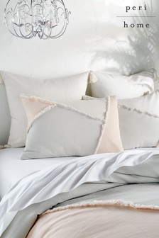 Peri Home Colourblock Fringe Pillowcase