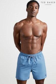Ted Baker Blue Hotdawg Plain Swimshort With Back Pocket