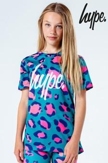 Hype. Animal Print Crop T-Shirt