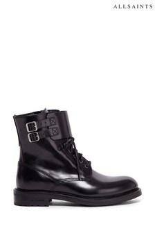 Черные кожаные ботинки AllSaints Brigade Polido