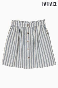 FatFace Blue Sparkle Stripe Skirt