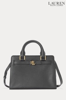Lauren Ralph Lauren Black Fenwick Leather Tote Bag