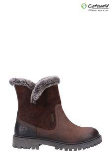 Cotswold Brown Aldestrop Fleece Lined Boots