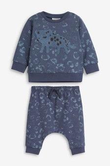 Джемпер и спортивные брюки с леопардовым принтом (0 мес. - 2 лет)