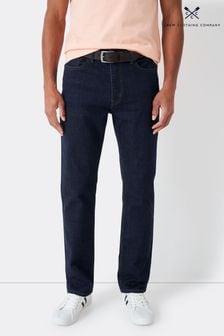 Jean droit Crew Clothing Company Parker bleu