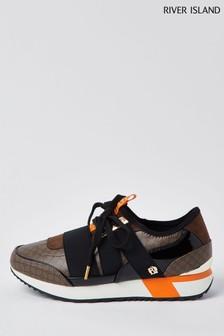 حذاء رياضي بني سهل اللبسRunner منRiver Island